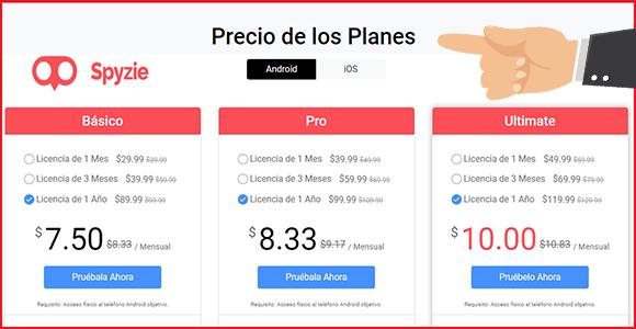 precios de spyzie app