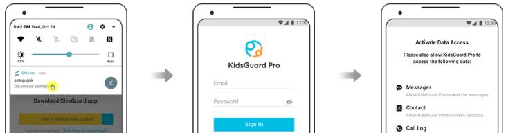 como se instala kidsguard pro